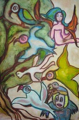 Artist:  Malke - Title: The Bird Tree - Medium: Acrylic Painting - Year: 2012