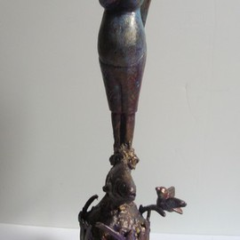 Malke Artwork The Mother, 2014 Mixed Media Sculpture, Figurative