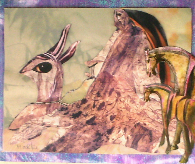 B Malke  'The Queen Of Night In Her Chariot', created in 2009, Original Painting Ink.