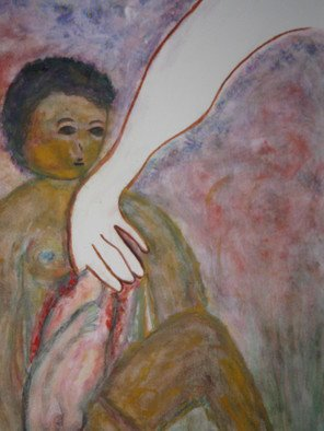 Artist:  Malke - Title: The creation of Eve Detail: - Medium: Acrylic Painting - Year: 2012