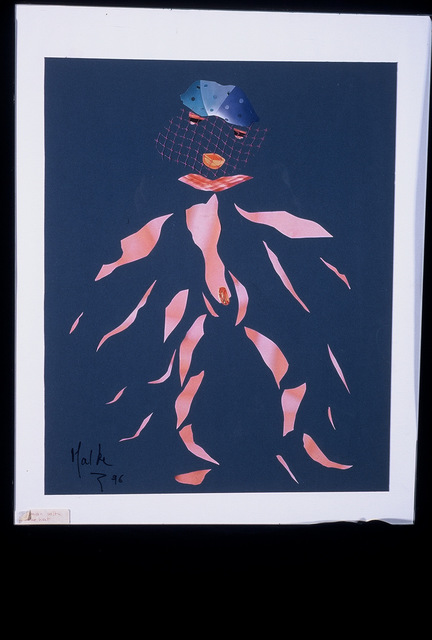 B Malke  'Woman In Pieces', created in 2003, Original Painting Ink.