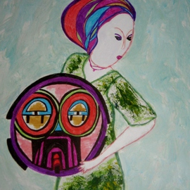 Woman with a shield