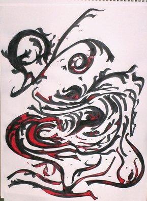 Malke Artwork dire dialog, 2009 Pen Drawing,