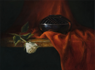 Artist: Barbara A Jones - Title: The Rose Within - Medium: Oil Painting - Year: 2012