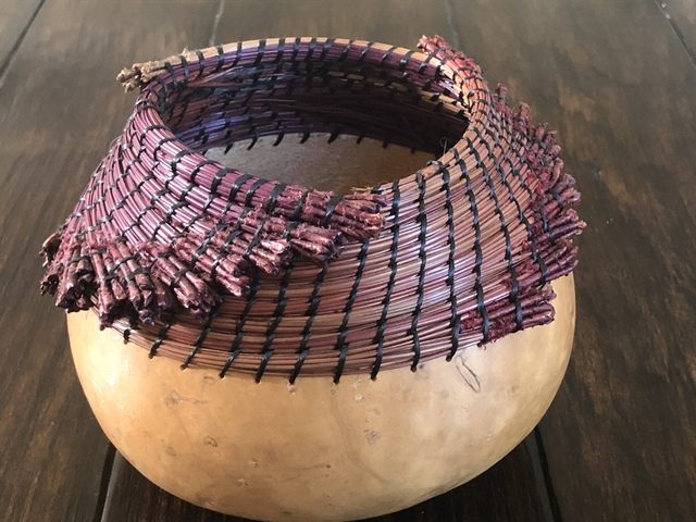 Mallory Krispinsky  'Hand Made Woven Gourd Vase', created in 2019, Original Basketry.