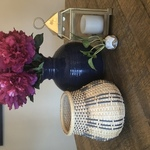 handwoven blue basket By Mallory Krispinsky