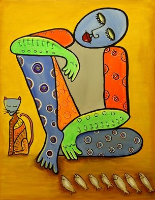 Acrylic Painting by Murali Govindaraj titled: Business Strategy, 2014