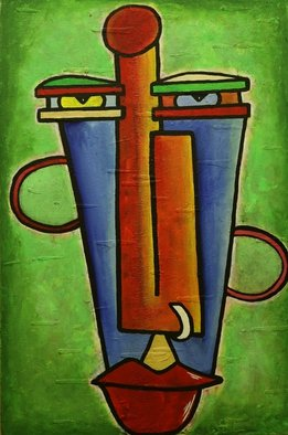 Acrylic Painting by Murali Govindaraj titled: Innovation, 2014