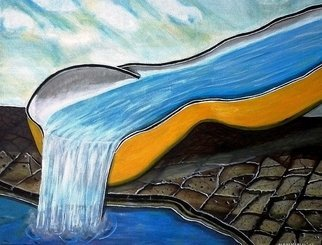 Artist: M Mamu - Title: Wasser - Medium: Acrylic Painting - Year: 2012