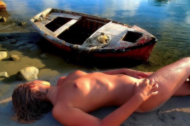Manolis Tsantakis  'Girl With A Fishing Boat', created in 2006, Original Photography Color.