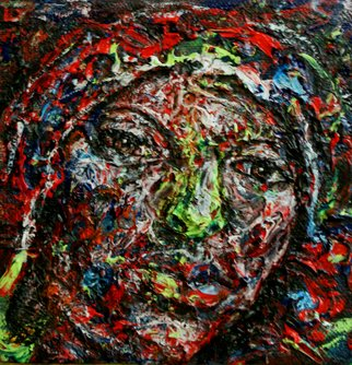 Artist: Edward Ofosu - Title: A peace of no mind - Medium: Acrylic Painting - Year: 2010