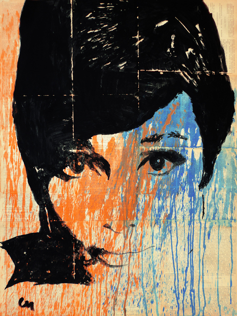 Marat Cherny  'Audrey Colour', created in 2015, Original Collage.