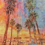 Beach Palm Trees The Sunset, Marat Cherny