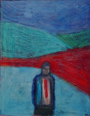 Marc Awodey Artwork man in red tie, 2005 Other Painting, Abstract Figurative