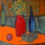 orange and green still life By Marc Awodey