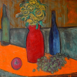 orange and green still life