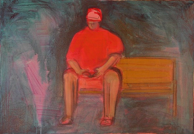 Marc Awodey: reader , 2002 Painting