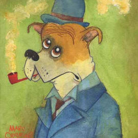 Pipe Smoking Dog