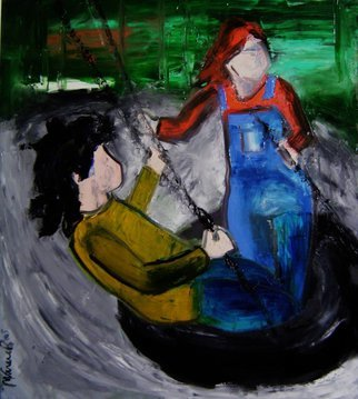 Acrylic Painting by Marcia Pinho titled: Kids, 2006
