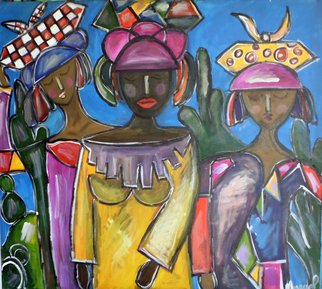 Artist: Marcia Pinho - Title: Marias - Medium: Acrylic Painting - Year: 2013