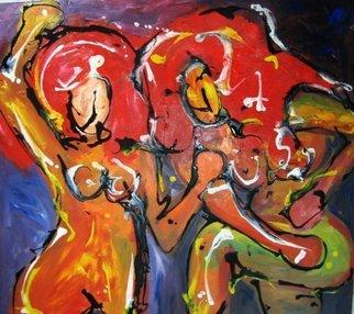Artist: Marcia Pinho - Title: Women Dancing - Medium: Acrylic Painting - Year: 2010