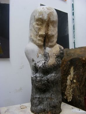 Wood Sculpture by Marcin Biesek titled: She and he, 2010