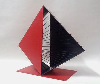 Marcio Faria: 'gabo bicor red', 2015 Steel Sculpture, undecided. Artist Description:  painted steel and silicone wire ...
