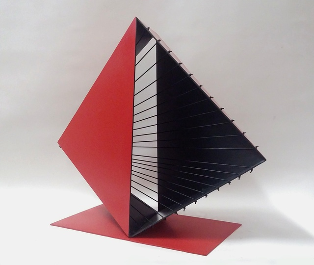 Marcio Faria  'Gabo Bicor Red', created in 2015, Original Sculpture Steel.