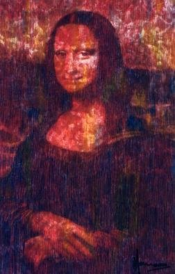 Collage by Marco Mark titled: Mona  Lisa  after Leonardo   print numbered  35, created in 2005