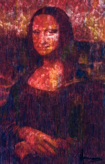Marco Mark  'Mona  Lisa  After Leonardo   Print Numbered  35', created in 2005, Original Collage.
