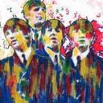 THE BEATLES COLLAGE 0966 By Marco Mark