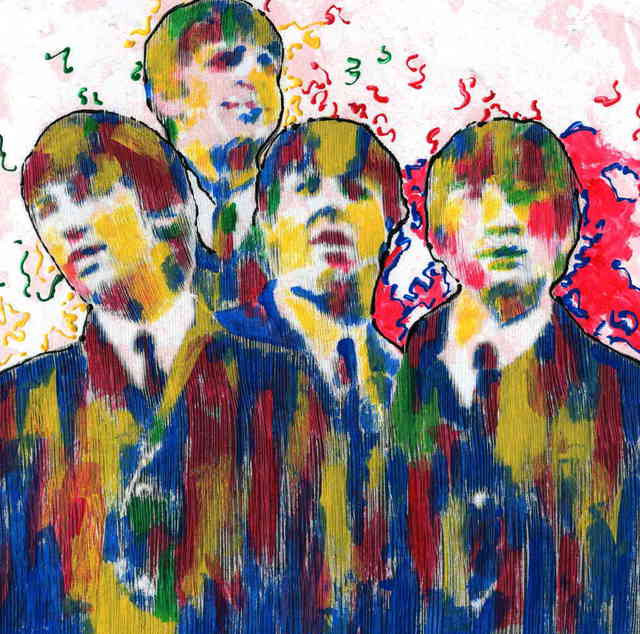 Marco Mark  'THE BEATLES COLLAGE 0966', created in 2005, Original Collage.