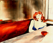 - artwork CAFE_AU_LAIT-1182609861.jpg - 2007, Watercolor, Figurative