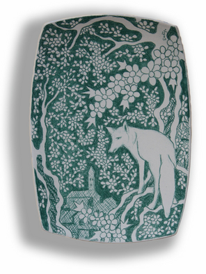 Setyo Mardiyantoro Artwork Green fox, 2008 Other Ceramics, Animals