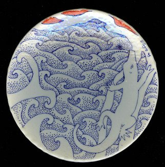 Setyo Mardiyantoro: 'lucertola mare', 2010 Wheel Ceramics, Animals.
