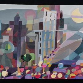 Maren Tober: 'American Landscape Black Out New York City 2003', 2004 Oil Painting, Cityscape. Artist Description:    landscape, sky, seascape, sunscape, cityscape, maren tober, paintings, original artwork, cubist, cubism        ...
