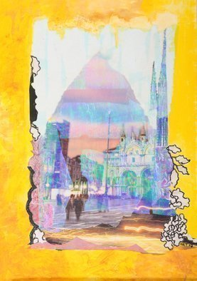 Margaret Thompson Artwork Echoes from Venice, 2007 Collage, Abstract Landscape