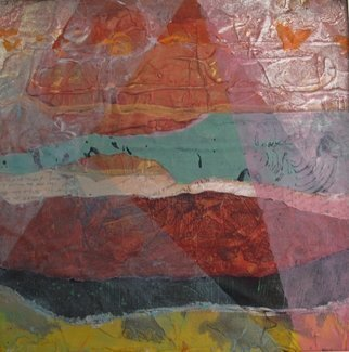 Margaret Thompson: 'Egyptian divide', 2011 Collage, Abstract. Artist Description:            Acrylic, collage, mixed media on canvas.          ...