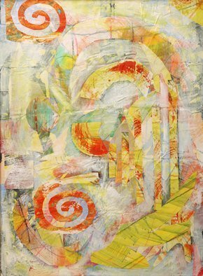 Collage by Margaret Thompson titled: In the beginning, created in 2009