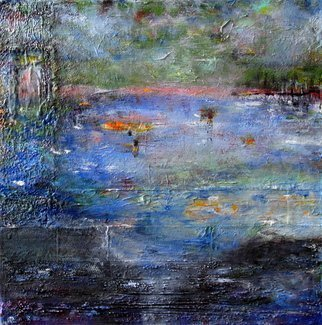 Margaret Thompson Artwork lakeside, 2017 Mixed Media, Abstract Landscape