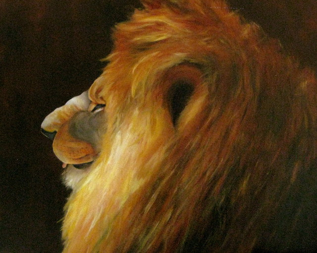 Margaret Lyons  'King Of The Jungle', created in 2011, Original Watercolor.