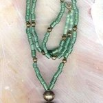 Bali With Green Beads, Margaret Stone