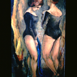 Margaret Stone Artwork Dancers, 1985 Acrylic Painting, Dance