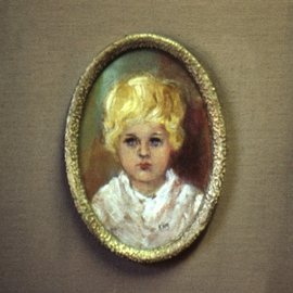 Margaret Stone: 'Danny', 1980 Oil Painting, Portrait.