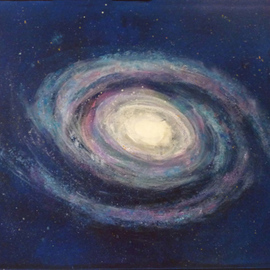 Margaret Stone Artwork Ghost Stars of Gabany, 2014 Acrylic Painting, Astronomy