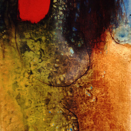 Margaret Stone: 'Woman of the Red Sun', 2007 Acrylic Painting, Abstract Figurative.