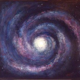 Margaret Stone Artwork You Are Here, 2014 Acrylic Painting, Astronomy