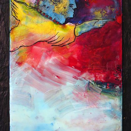 , Fly Away, Abstract Figurative, Sold