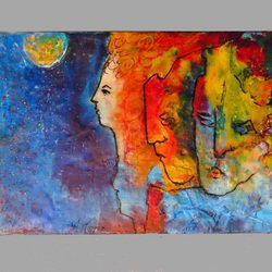 , Family Ties, Abstract Figurative, $273