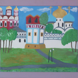 Margarita Ivashkova Artwork Russian Cathedral, 2007 Oil Painting, Architecture